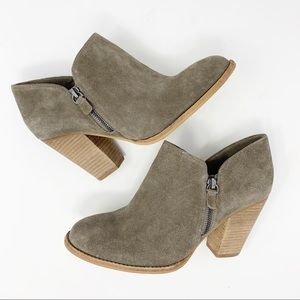 MIA Frisco Genuine Suede Ankle Boots Size 9
